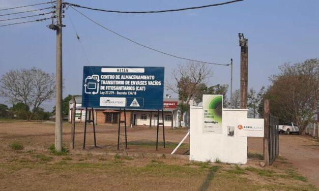 Se inauguró en Metán el quinto Centro de Almacenamiento de envases vacíos de productos fitosanitarios